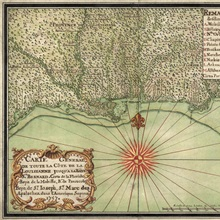 Antique Map of the Gulf Coast, 1747