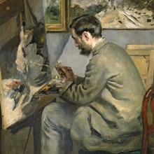 Frederic Bazille At His Easel 1867 Wall Art Canvas Prints Framed Prints Wall Peels Great Big Canvas