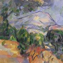 Montagne Sainte Victoire au dessus de la route du Tholonet, c.1904