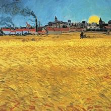 Summer evening, wheat field at sunset, 1888