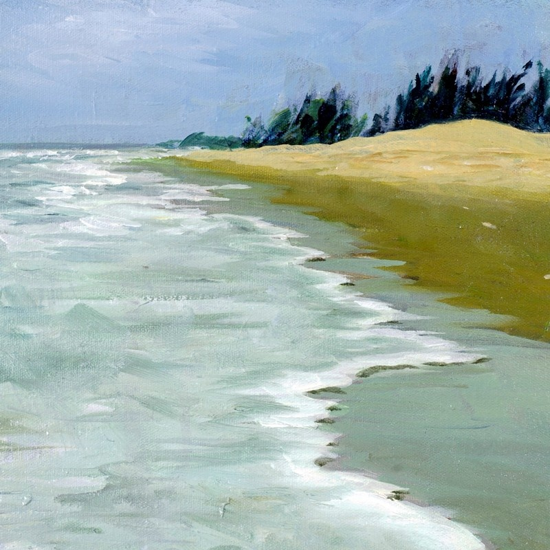 By The Beach 2007 Oil On Canvas Wall Art Canvas Prints