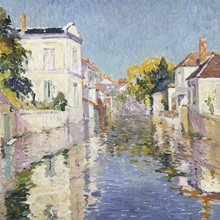 A Canal In Burano, Venice By Paul Mathieu
