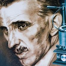 Nikola Tesla With An Early Tesla Coil