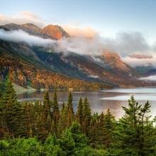 Montana, Glacier National Park, Saint Mary Lake and Wild Goose Island