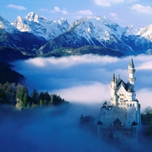 Germany, Alps, Bavaria, Neuschwanstein Castle