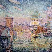 Entrance to Marseilles Harbor, 1911, By French Impressionist Paul Signac