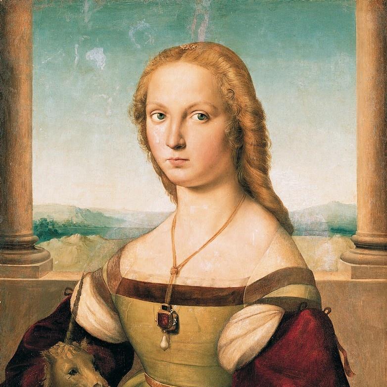ARTCANVAS Portrait of a Lady with a Unicorn 1506 Canvas Art Print by Raphael