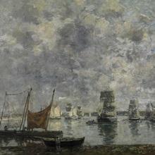 Sailing Ships, Camaret, By French Impressionist Eugene Louis Boudin, 1872