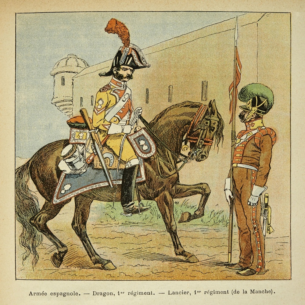 Spanish Army, 1st Regiment Dragoon and Lancer of the Mancha, By ...
