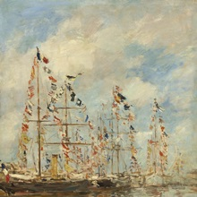 Yacht Basin at Trouville-Deauville, by Eugene Boudin, 1895-96