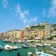 Boats at a harbor, Portovenere, Italy
