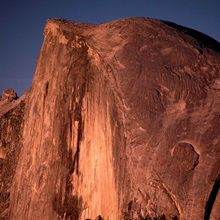 Clear Sky over Rock Formation
