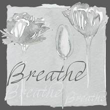 Gray floral - Breathe