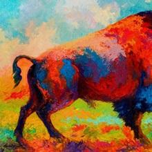 Running Free Bison