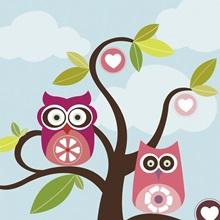 Love Birds In Tree
