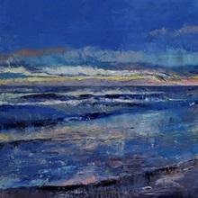 Midnight Blue Seascape