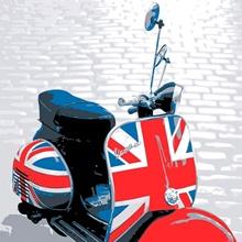 Vespa Scooter - Mod Style, Pop Art Print