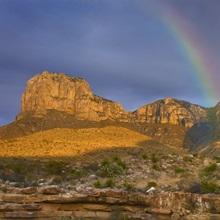 Rainbow near El Capitan, Guadalupe Mountains National Park, Texas
