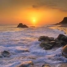 Sunset over Leo Carillo State Beach, Malibu, California
