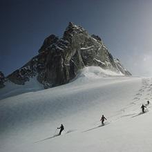 Alpine skiing, Bugaboos Ski Area, Purcell Mountains, Rocky Mountains, Canada