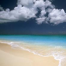 Beautiful blue water beach scene
