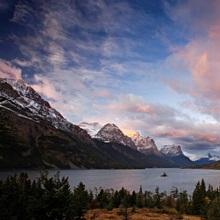 Glaciers surround Saint Mary Lake, Glacier National Park, Montana