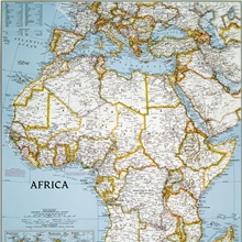 National Geographic Political Map Of Africa Great Big Canvas - National geographic political map
