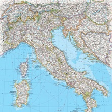 NGS Atlas Of The World Th Edition Political Map Of Italy Great - Clear map of italy