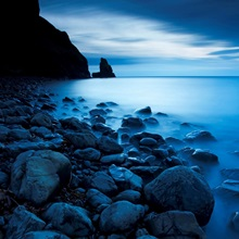Talisker Bay Under a Winter Moon
