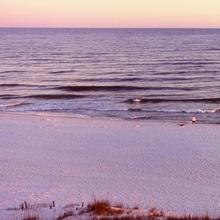Beach at sunset, Gulf of Mexico, Orange Beach, Baldwin County, Alabama