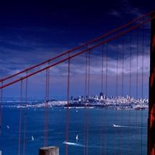 Bridge over a river, Golden Gate Bridge, San Francisco, California