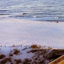 High angle view of a beach, Gulf of Mexico, Orange Beach, Baldwin County, Alabama