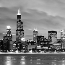 Illinois, Chicago, skyline