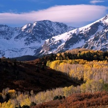 Mountains covered with snow, Colorado,