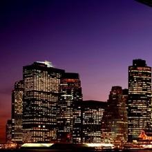 Night Brooklyn Bridge Skyline New York City NY