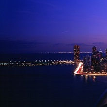 Night, Cityscape, Chicago, Illinois