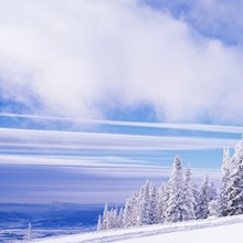Skiers Rocky Mountains Steamboat Springs CO