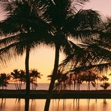 Sunset Anaehoomalu Beach HI