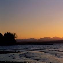Sunset near Burlington Vermont