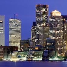 US, Massachusetts , Boston, skyline night
