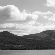 Vermont, Mountain range along the Lake Willoughby