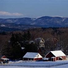 Vermont, Peacham, winter