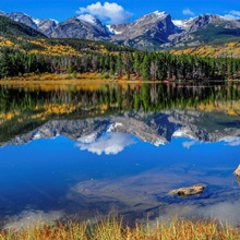 Autumn Mirror at Sprague Lake in Rocky Mountain National Park