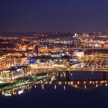 Pittsburgh City Skyline at Night