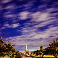 Medford Oregon Temple and Stars, Central Point, Oregon