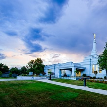 Medford Oregon Temple, Sunset and Storm Clouds, Central Point, Oregon