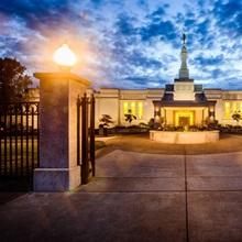 Medford Oregon Temple, Twilight, Central Point, Oregon