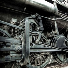 An old locomotive train