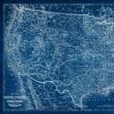 US Map Blueprint Wall Art Canvas Prints Framed Prints Wall - Us map blueprint
