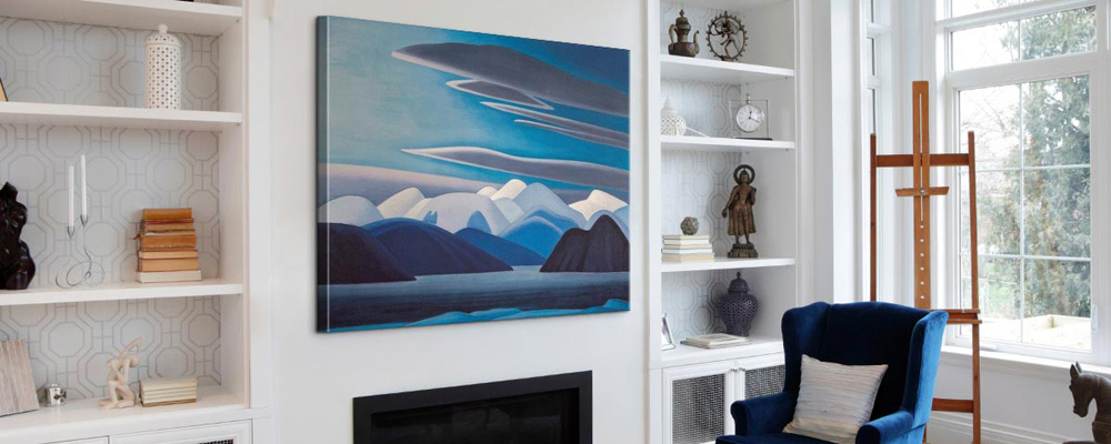 Make a bold statement with large wall art